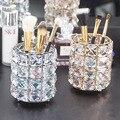 Хрустальная металлическая Кисть для макияжа  трубка для хранения карандашей для бровей  Косметическая ручка  органайзер для макияжа  бисер ...