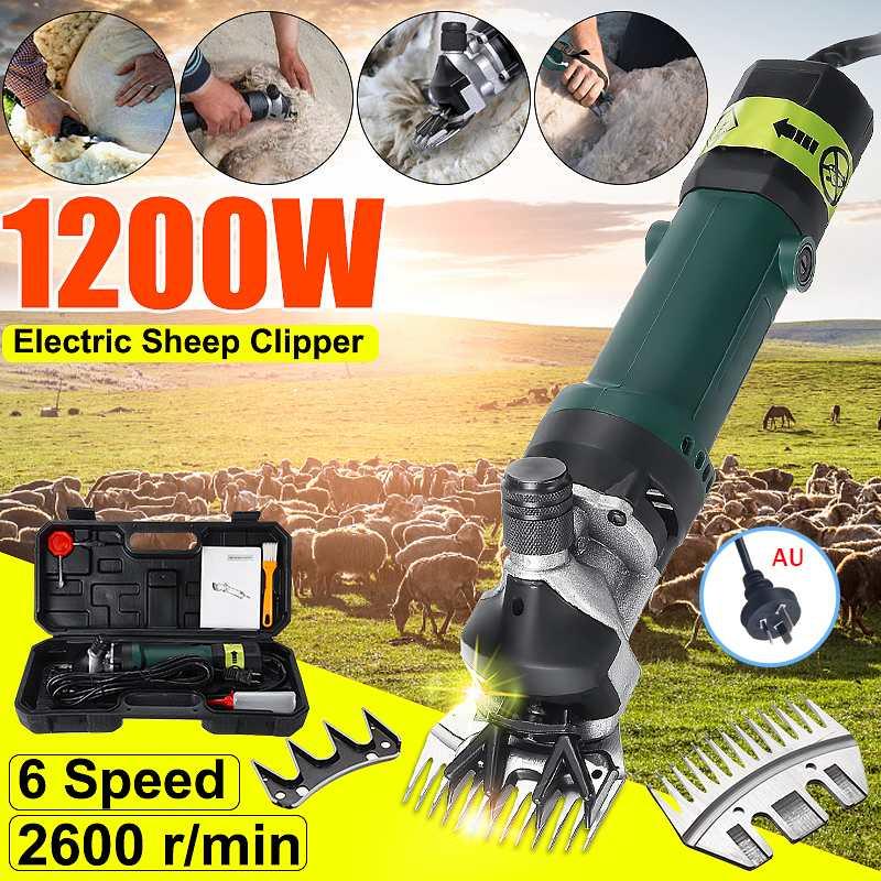 AU Plug Wool Scissor 1200W Electric Sheep Goat Shearing 6 Gears Speed Machine Clipper 220V Farm Shears Cutter Cut Machine