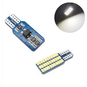 Image 3 - 5x 자동차 LED T10 192 194 168 W5W LED 전구 33 SMD 3014 테일 라이트 돔 램프 화이트 DC 12V Canbus 오류 무료 자동차 액세서리