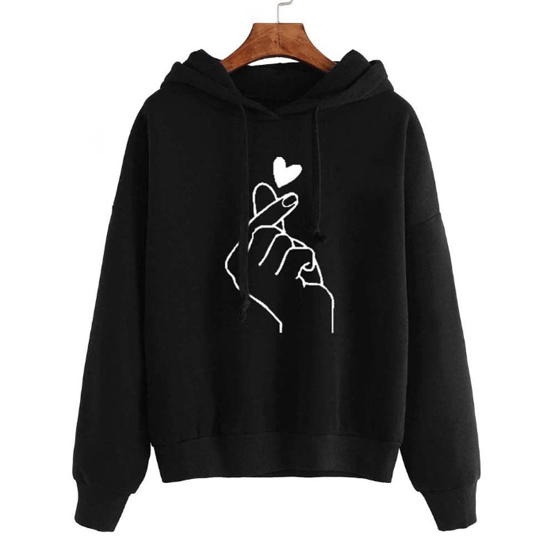 Sweatshirt Woman  Women's Hoodies Ladies Hooded  Love Printed Casual Pullovers Girls Long Sleeve Tops Oversized Autumn Winter