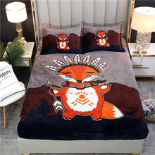 Bed Linen Bed-Sheet Fitted Flannel Warm for Children Birthday-Gift Protective-Case Bed-Mattress