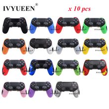 IVYUEEN 10 PCS Half Extra Thick Cover Case for Sony Playstation 4 PS4 Pro Slim Controller Soft Silicone Gel Rubber Case Skin
