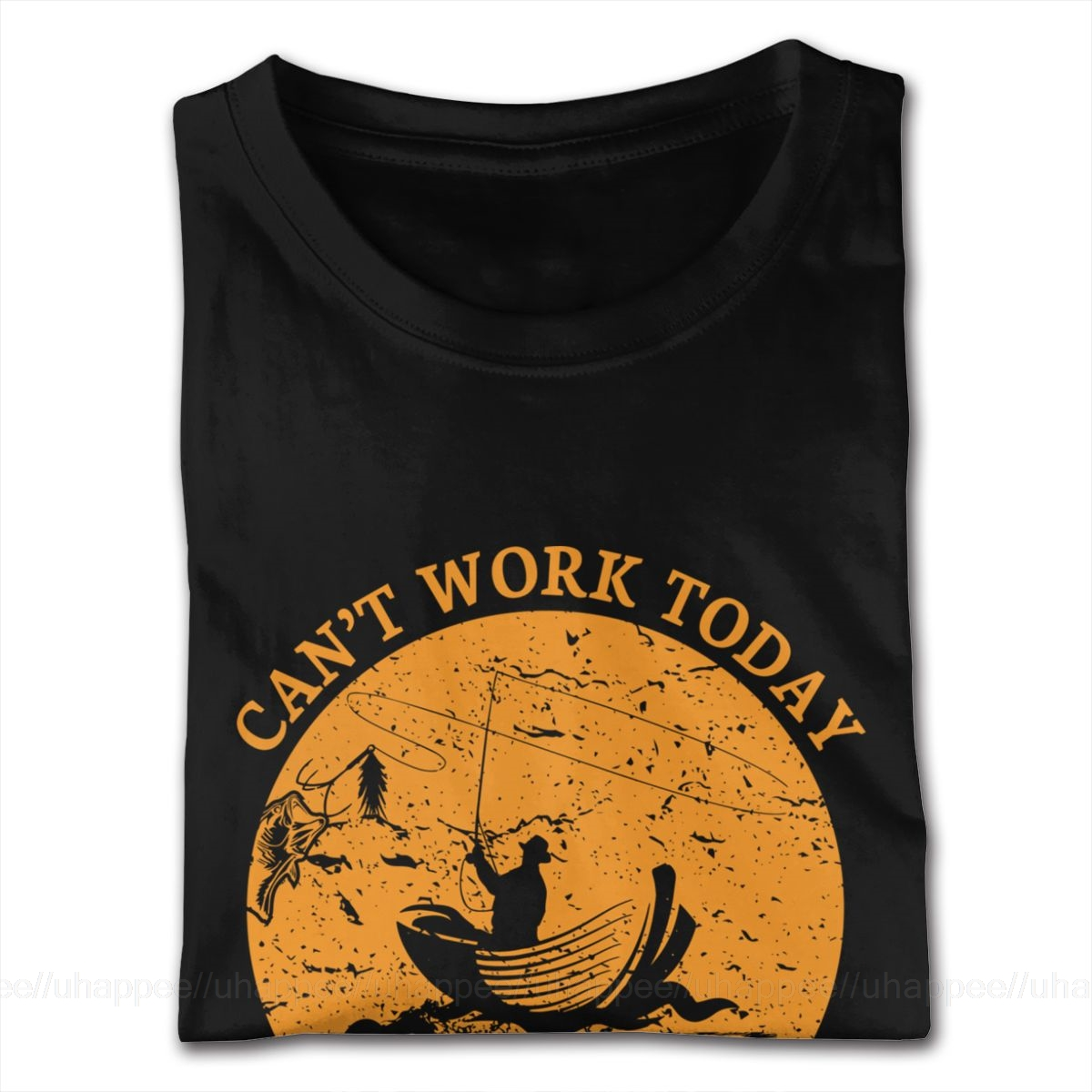 Can't Work Today Fishing T-Shirt Guy Harajuku Tee Shirts Homme Short Sleeved Discount Brand Merch