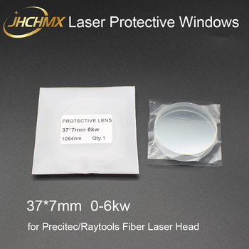 JHCHMX Fiber Laser Protective Windows/Lens 37*7mm 1064nm 6kw For Precitec Raytools High Power Fiber Laser Machine zoqk 50 quartz laser protective lens mainly used in the precitec laser head size 50x2mm materials imported quartz