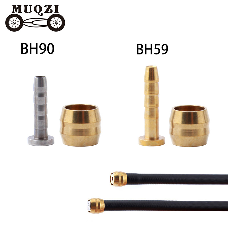 MUQZI 4 Set Bike Brake Hose Hydraulic Disc Brake Olive Connect Insert BH90 BH59 Hydraulic Disc Brake Hose Accessories