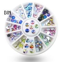 Перекрестная поставка маникюра с плоским дном Алмазный поворотный стол торговля наклейка на ноготь со стразами алмазные ювелирные изделия круглые тарелки