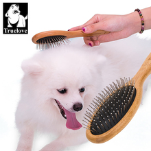 Brush Pets-Accessories Dog-Hair-Remover Truelove Grooming Pet-Round-Comb Cat Bamboo Small