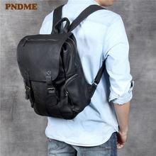 Рюкзак из натуральной кожи для мужчин и женщин повседневная