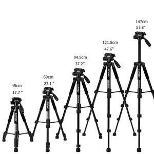 Image 3 - Cadiso Q222 المهنية فيديو كاميرا فوتوغرافية ترايبود مرنة التصوير السياحة السفر حامل مع Monopod ل DSLR هاتف مزود بكاميرا