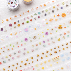 Margarida estrelas pet washi fita adesiva decorativa fita adesiva para adesivos scrapbooking diy papelaria fita escolar material de escritório