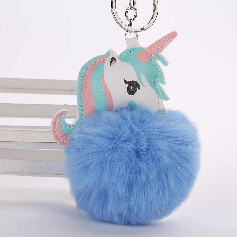 ยูนิคอร์นตุ๊กตาของเล่นพวงกุญแจยูนิคอร์นจี้ Suffed สัตว์ของเล่นเด็กสาวกระเป๋าจี้ Licorne Plush