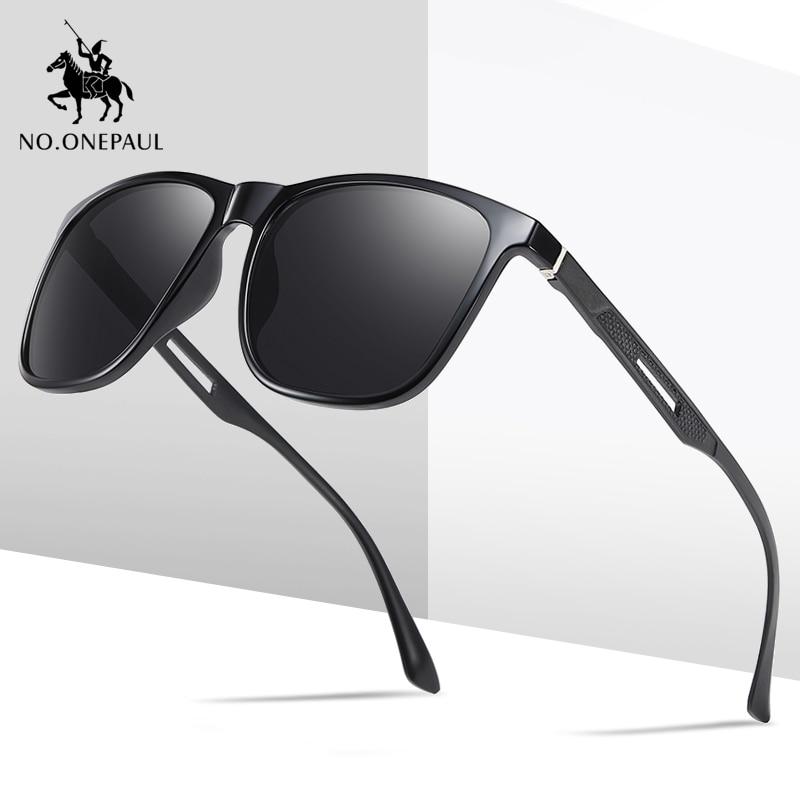 NO.ONEPAUL Brand Designer Polarized Male Sun Glasses Eyeglasses Stainless Steel Polarized Sunglasses Classic Men's Sunglasses