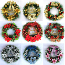 40cm Wedding Decoration Wreath Christmas Garland DIY Crafts Decor For Home Door Grand Tree Gift Party Ornament