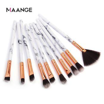 MAANGE 10 pcs of marbled eye makeup brush eye shadow brush blush Eyebrow Make up Brushes foundation brush beauty tool 1