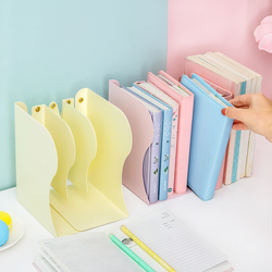 Metal adjustable book holder stand Retractable Bookend Iron Support bookshelf desktop organizer office school supplies
