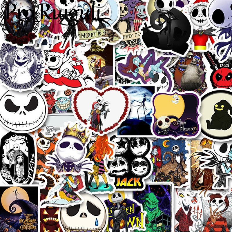 10/30/50pcs The Nightmare Before Christmas Halloween Scrapbooking Stickers Packs Luggage Graffiti Kid Toy Decals Pasters Gifts