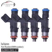 Inyector de combustible de alta impedancia, 4x48mm, ev14, 550cc, E85, combinado, 0280-158-117, 0280158117, para Toyota