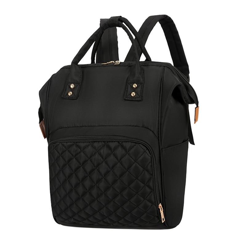 Многофункциональные сумки для мам, модный детский рюкзак, сумка для подгузников, сумка для новорожденных, органайзер для подгузников, переносные рюкзаки для подгузников, сумки для подгузников - Цвет: Black