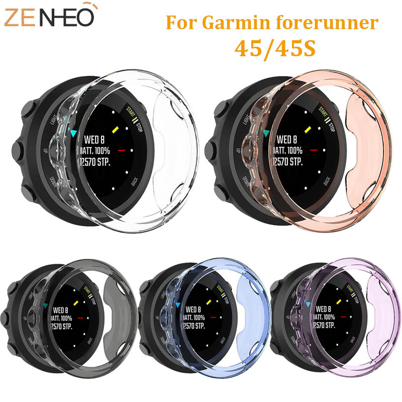 For Garmin Forerunner 45 45S TPU Protector Case Replacement Accessories For Garmin Forerunner 45 45S Protective Soft Shell