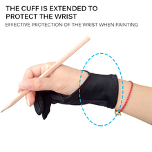 Anti-Fouling Hand-Glove Drawing-Tablet for Right Left Screen-Board Elastic