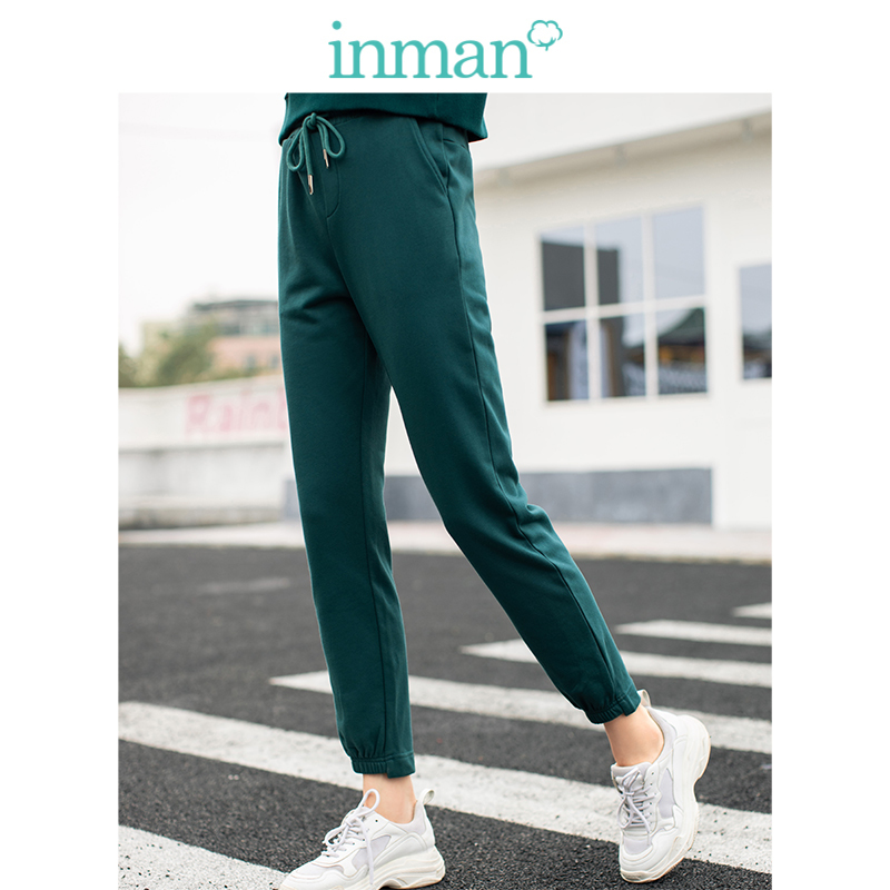INMAN  High Waist Slim Sport Student Slim All Matched Women Casual Pencil Pants