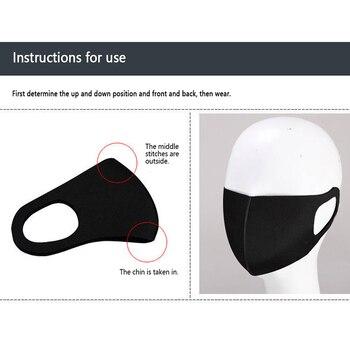 Fashionable Non-disposable Dust-proof Breathable Masks Black 1 Pack Individually Reusable Washable Black Masks 4