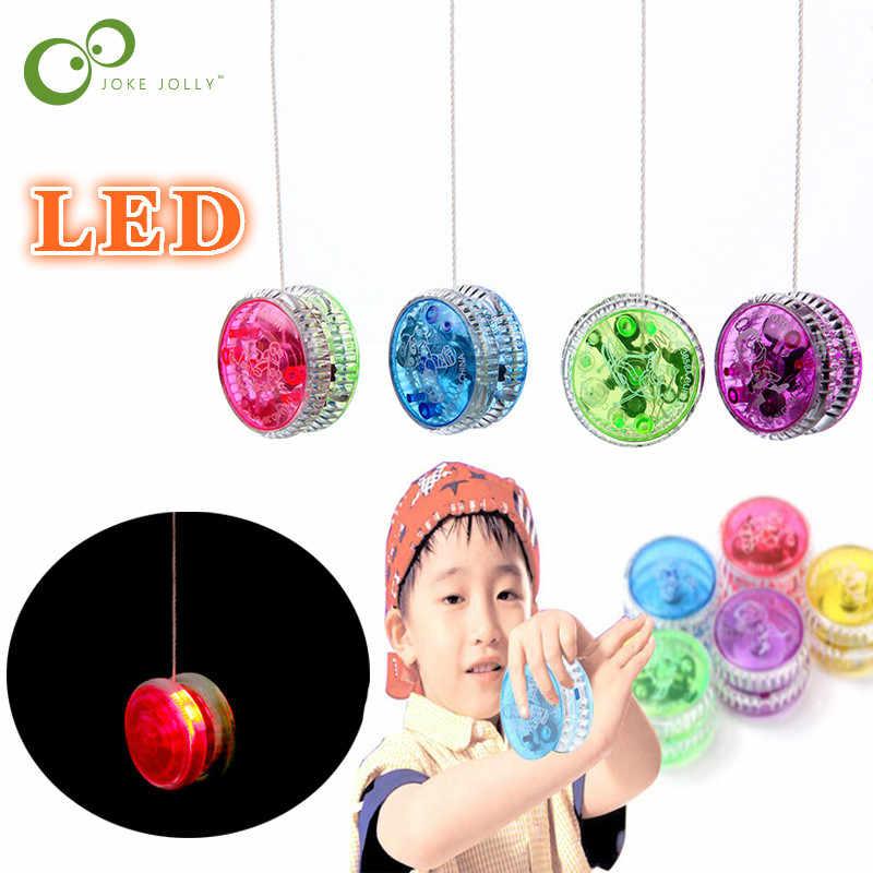 Nuevo LED Yoyo parpadeante clásico para niños, juguete de magia profesional yoyó Spin aleación de aluminio, rodamiento para Yoyo con cuerda giratoria ZXH
