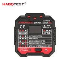 Line Tester RCD เครื่องทดสอบซ็อกเก็ตไฟฟ้าเครื่องทดสอบ EU Plug HT106D ซ็อกเก็ตเครื่องทดสอบแรงดันไฟฟ้าซ็อกเก็ตทดสอบเครื่องตรวจจับขั้ว Phase Check