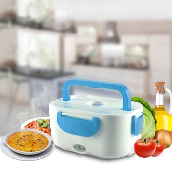 Portatile Riscaldamento Elettrico Scatola di Pranzo il Cibo-Grade Alimentare Contenitore di Cibo Più Caldo Per I Bambini 4 Fibbie Set per apparecchiare