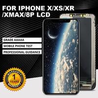 GradeAAAAA Für iPhone X XR XS Xsmax 8PLCD Display Für TFT OLED OEM Touch Screen Mit Digitizer Ersatz Montage teile Handy-LCDs    -