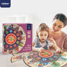 Mideer 25PCS Baby Puzzle Digital Clock Paper Jigsaw Puzzles for Kids Educational For Children Toy Cartoon