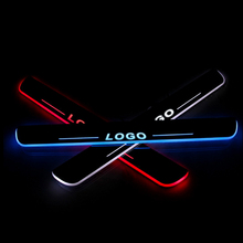 LED Door Sill For Infiniti Q60 Convertible Coupe 2013 Scuff Plate Entry Guard Threshold Welcome Light Car Accessories