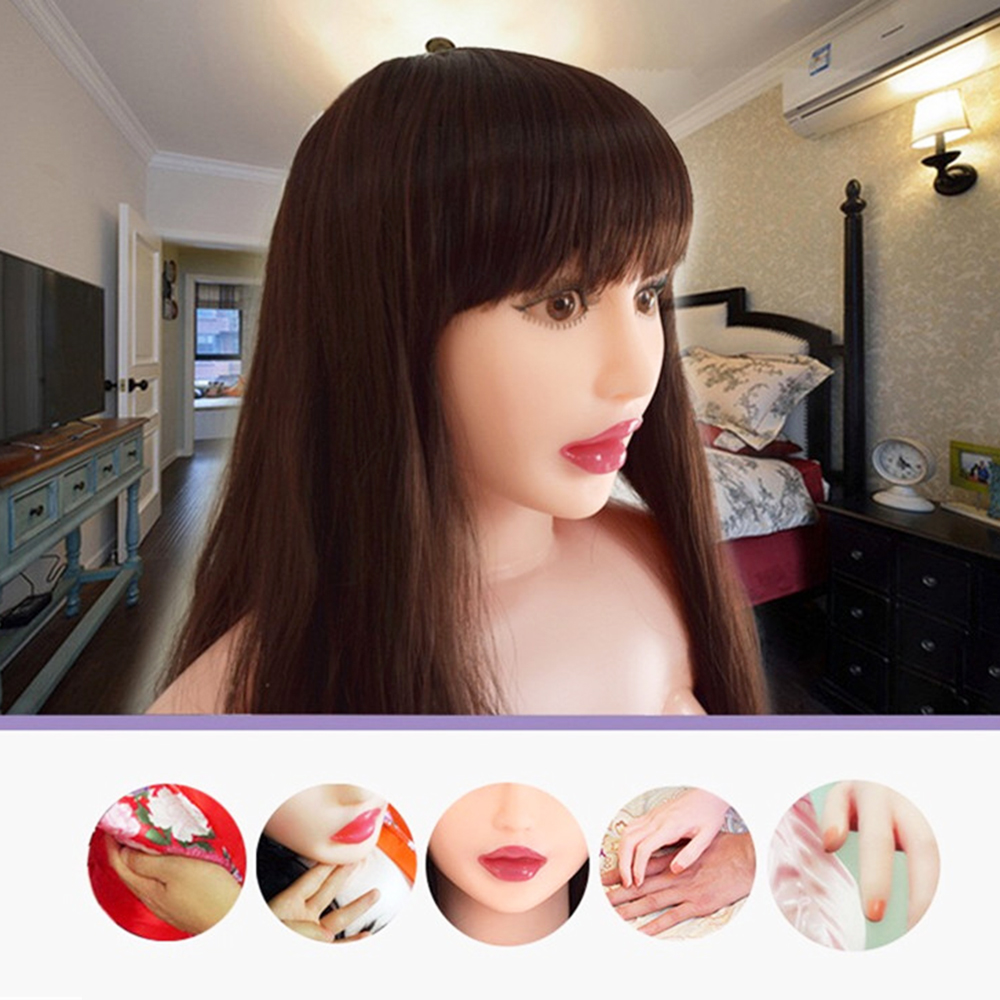 HoneyLuLu Silicone Chest Inflatable <font><b>Doll</b></font> Simulation Head Realistic <font><b>Sex</b></font> <font><b>Dolls</b></font> Female <font><b>Sex</b></font> <font><b>Doll</b></font> Japanese Silicone <font><b>Doll</b></font> <font><b>155</b></font> <font><b>cm</b></font> image
