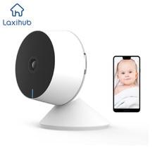 Wifi câmera 1080p hd completo 32g sd cartão de detecção de movimento, áudio em dois sentidos & visão noturna, câmeras de casa inteligente trabalhar com alexa, google