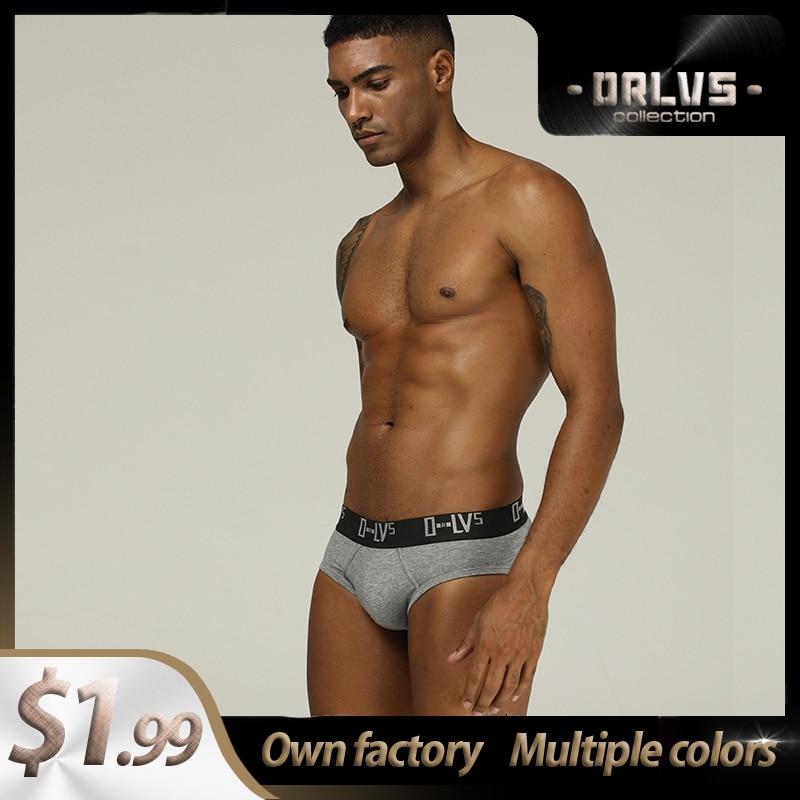 ORLVS Slips Men ORLVS Cuecas Sexy Men Underwear Briefs Gay Male Jockstrap Bikini OR209 Ropa Push Up Men Cotton Brief