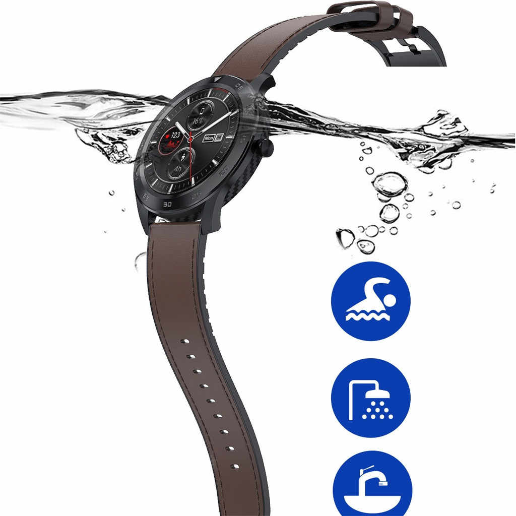 DT98 1.3inch IP68 Waterproof Full Touch Screen Sport Smartwatch Fitness Bracelet Wristband Watch Strap fitness tracker 2019#G20