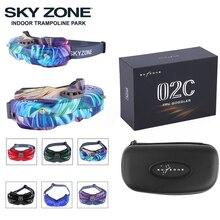 SKYZONE SKY02C/SKY02X 5.8Ghz 48CH FPV نظارات دعم 2D/ثلاثية الأبعاد HDMI رئيس تتبع مع مروحة كاميرا DVR طائرة مزودة بجهاز للتحكم عن بُعد سباق طائرة بدون طيار FPV