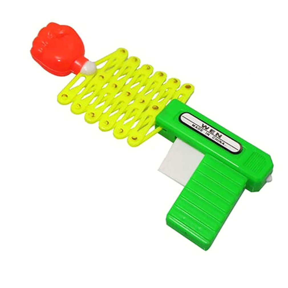Retractable Fist Shooter Trick Toy Gun Funny Child Kids Plastic Party Festival Gift Classic Elastic Telescopic Fist