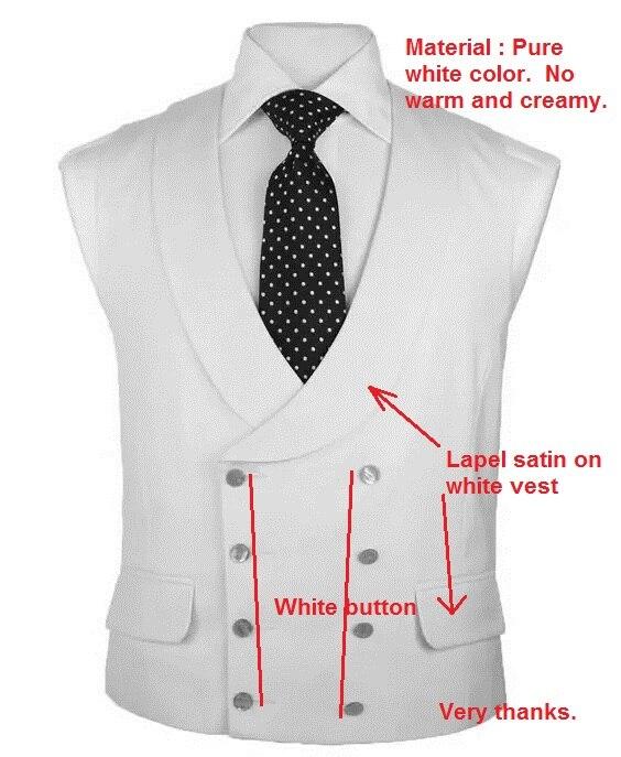 2018 Latest Coat Pant Design Ivory Beige Vest Double Breasted Vests Peaked Lapel Waistcoat Slim Fit Tuxedo Prom Blazer Masculino