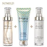 SOMILD Anti Aging Serum Bubble Detox Facial Mask Firming Whitening Emulsion Face Essence Lotion Korean Cosmetics Skin Care Set