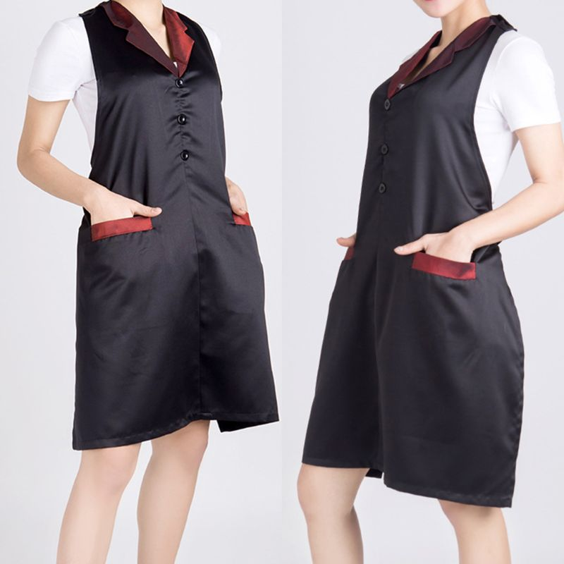 Fashion Waterproof Haircut Apron Hairdresser Beauty Nail Work Clothes Assistant Overalls