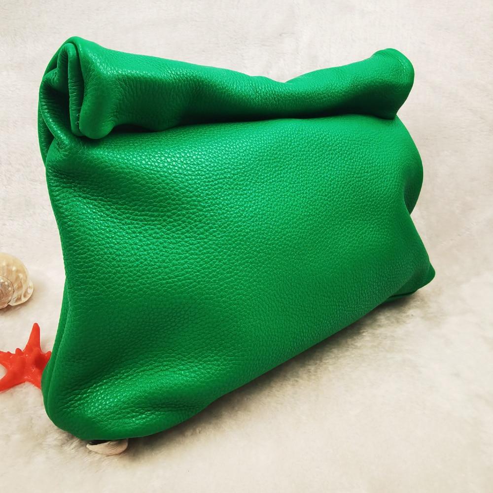 New Euro Design Crimping Handbags Hot Office Mobile Phone Pockets Women's Handbag High Quality Portable Genuine Leather Handbags