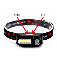 COB USB Rechargeable Headlamp Flashlight XPE Brightest Led Headlight Waterproof Head Lights for Running Bike Camping Motorcycle