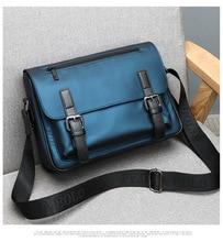 цена Premium Nylon Messenger Bag Waterproof Texture Crossbody Bag Business Flapover Briefcase for Men Mochila в интернет-магазинах