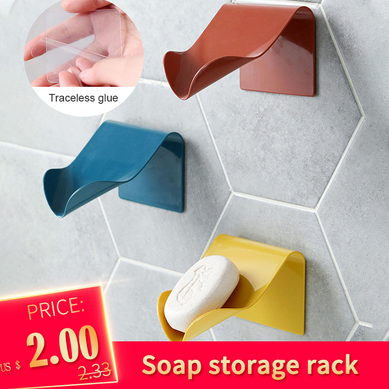 New Soap Storage Rack 2020 Drainage Soap Box Organize Bathroom Shelf Fresh Drain Soap Storage Shelf Bathroom Accessories
