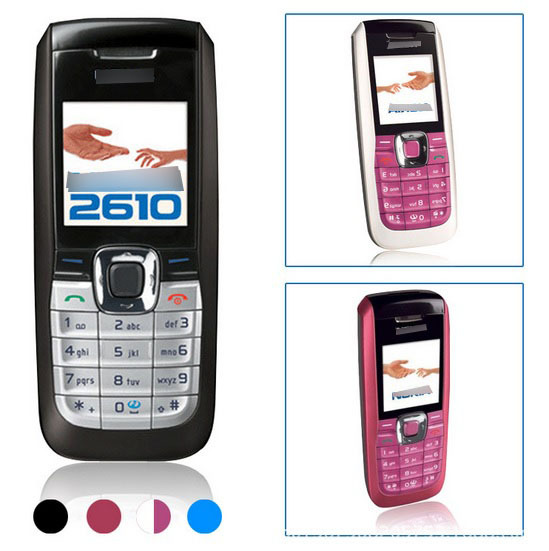 Low Mobile Phone 2610 Low-End Cheap Activity Straight Button Function Durable Elderly-Style Small Mobile Phone