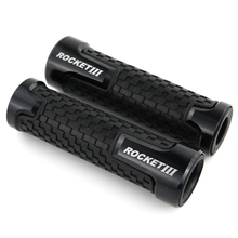 For Triumph ROCKET III CLASSIC ROADSTER Motorcycle Handlebar Handle Grips CNC Aluminum None-Slip Rubber