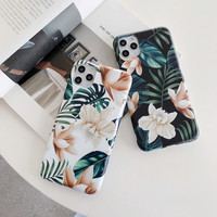 Vintage Flower Phone Cases For iphone XR XS 13 12 Mini 11 Pro Max X 8 7 Plus SE 2020 Case Funda Silicone Soft TPU IMD Back Cover