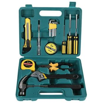 8/9/12/13/16 Pcs Hand Tool Set  Car Home Dual-purpose Manual Maintenance Tool Hardware Combination with Plastic Toolbox