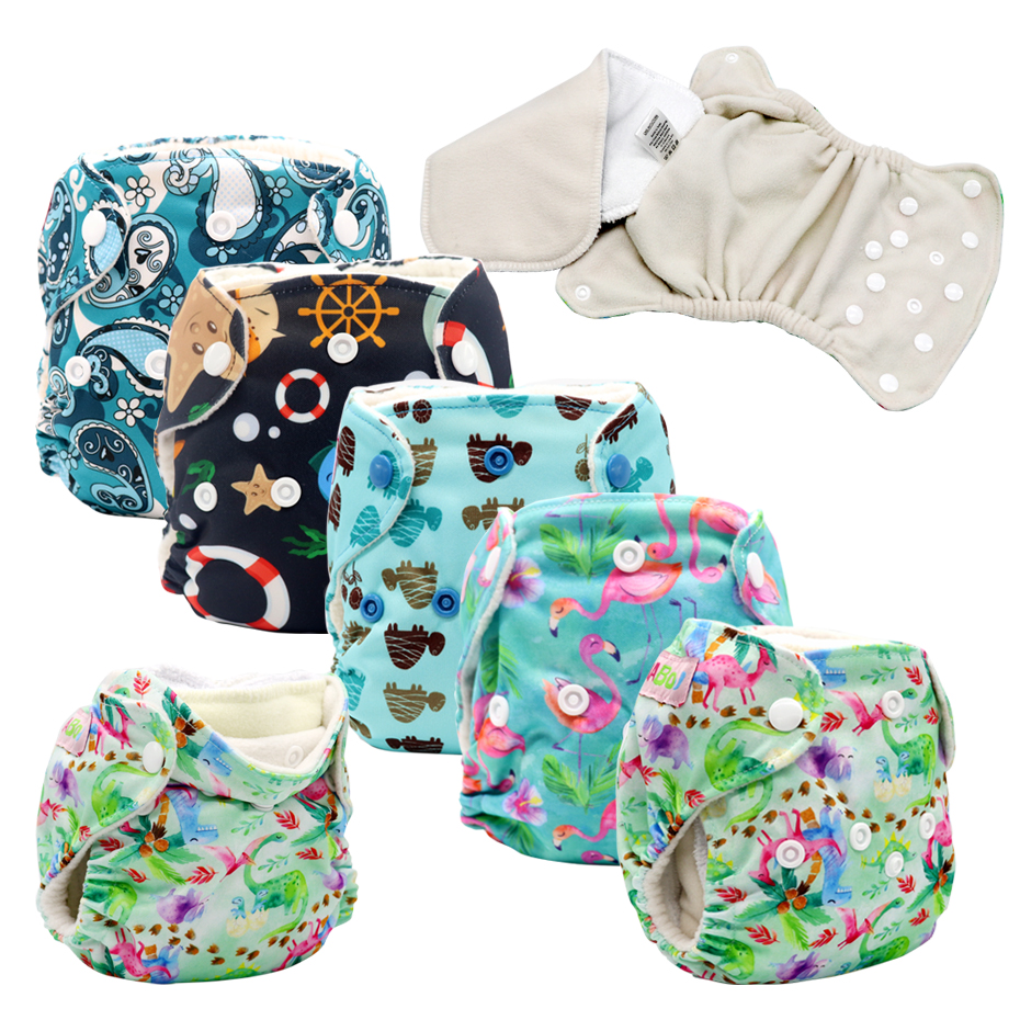 MABOJ AIO Diaper Newborn Cloth Diapers Baby All In One Pul Diaper Washable Reusable Newborn Nappy Insert Liner Baby Girl Boys